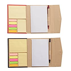 Walterdrake Memo Book With Sticky Notes Set Of 2