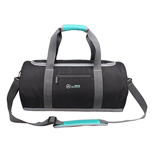 Mercedes AMG Petronas Travel Sport Bag - Small (Black/Grey) by Mercedes AMG Petronas