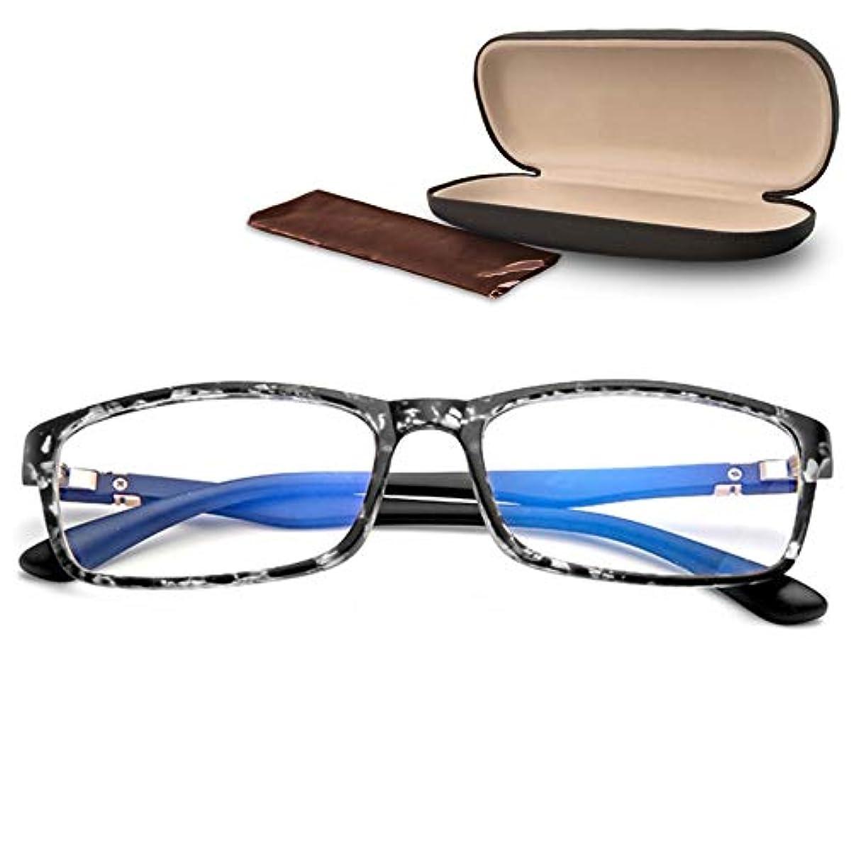 [해외] 【GLASSES TRUST】블루 라이트 컷 안경 PC용 PC 안경 UV컷 초경량 16G 패션 다테 안경 스퀘어