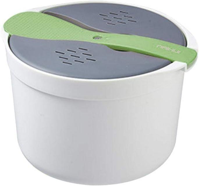 vaporera de Utensilios de Cocina Multifuncional con Tapa de Filtro y Shamoji para cocinar en la Cocina casera Grano de Olla arrocera de microondas HJUI Olla arrocera de microondas 7.28 Pretty Well