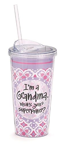 I'm a Grandma What's Your Superpower Travel Tumbler/cup