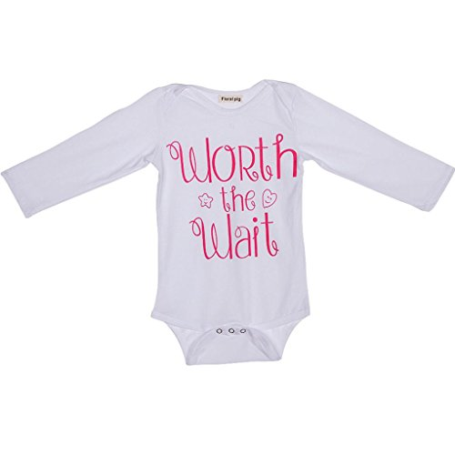 WuyiMC Toddler Baby Girl Cute Letter Print Pattern Long Sleeve Romper Bodysuit Shirt (2-3 Toddlers, - Usps 3 Day Tracking
