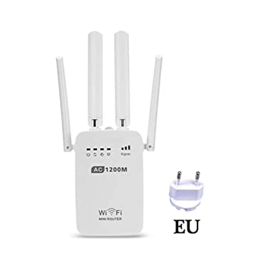likeitwell WiFi Repetidor Router 300/1200Mbps Dual-Band 2,4/5G 4