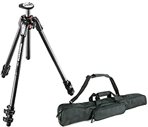 Manfrotto MT190CXPRO3 Professional 3 Section Carbon Fiber Tripod with Q90 Column + Calumet Padded Tripod Bag