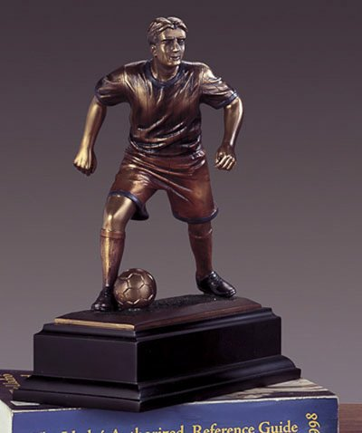 Soccer Player Bronze Figurine- 7.5'' x 9.5'' by Darby Creek Trading