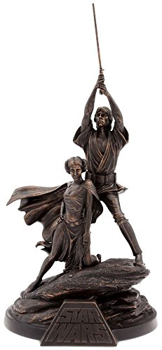 Limited Edition Statue Figure - Star Wars 40th Anniversary Luke Skywalker & Princess Leia Exclusive Figurine Statue [Limited Edition out of 1250]