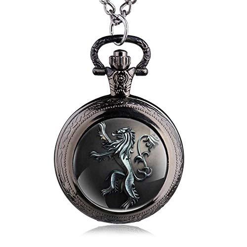 31ea7fc6b Image Unavailable. Image not available for. Color: New Antique Steampunk  Lion Quartz Pocket Watch Necklace Chain Pendant Gift for Men Women Relogio  De