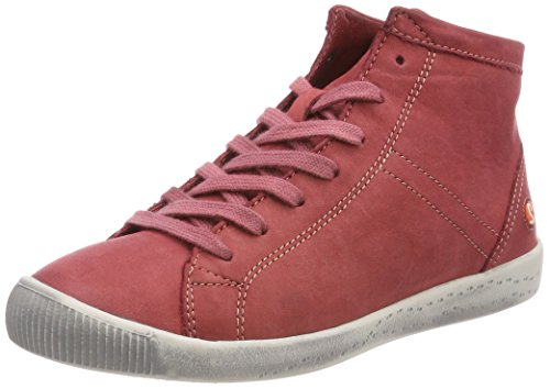 Softinos Isleen Washed Sneaker A Collo Alto Donna Rosso rosso