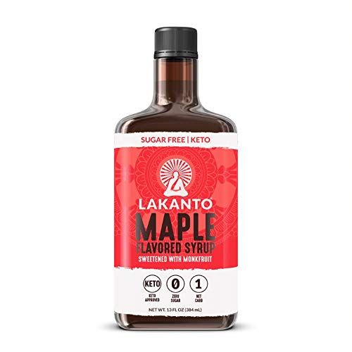 Lakanto Maple Flavored Sugar-Free Syrup, 1 Net Carb, Maple Syrup, 13 Fl. Oz (Pack of ()