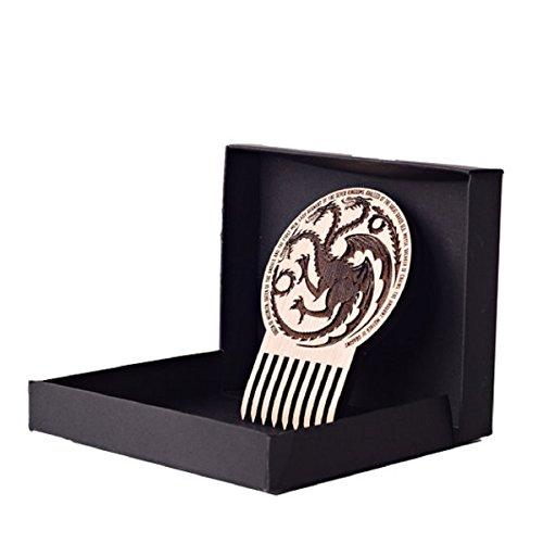 Beard Gains House Of Targaryen Beard Comb - Handmade in America - Extremely Durable, Lightweight & Superior Quality