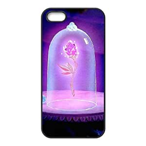 iPhone 5 5s Cell Phone Case Black Beauty and the Beast The Enchanted Christmas T1A8Q