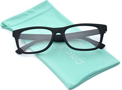 Classic Slim Wayfarer Design Clear Lens Eye Glasses Black Frame Hipster Nerd - Hipster Frames Black