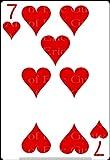 1/2 Sheet - 7 of Hearts Poker Casino Birthday - D24139 - Edible Cake/Cupcake Party Topper