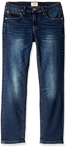 HUDSON Boys' Big Jagger Slim Straight Jean, Norton Wash, 14