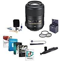 Nikon 85mm f/3.5G AF-S DX Micro NIKKOR ED (VR-II) Lens - U.S.A. Warranty NIKKOR Lens - Accessory Bundle with Filter Kit & Pro Software Package