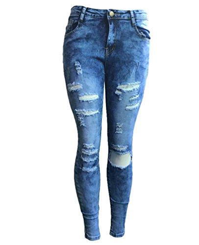 Image Denim lgant Comme Femmes Boyfriend Dooxi Dcontracte Skinny Dchir Stretch avec Pantalons Les Jeans Poches aIY6awqC