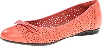 Clarks Women's Clarks Poem Journal Flat,Coral,8.5 N US