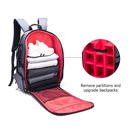 Waterproof Digital DSLR Photo Padded Camera Backpack Multi-Functional Camera Bag for Outdoor Traveling Hiking
