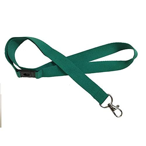 Kestronics® Green 20mm Lanyard with Safety Break away and Metal clip