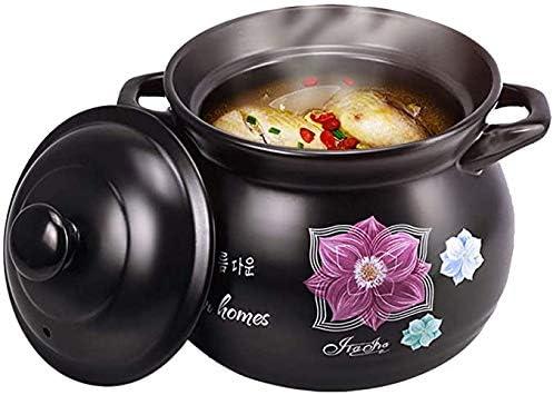 Gaojian Casseroles en céramique faitout Domestique Casserole résistant à la Chaleur Casserole Pot avec Couvercle Batterie de Cuisine,4L