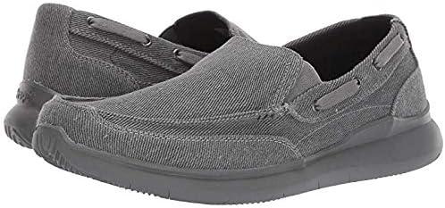 [プロペット] メンズスリッポン・ボートシューズ・靴 Viasol Grey 34cm M (D) [並行輸入品]