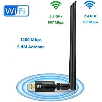 Amazon com: RTL8812AU Realtek USB wireless adapter USB 3 0