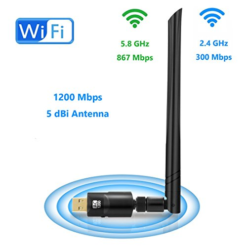 USB Wireless Adapter 1200Mbps Realtek RTL8812 Chipset With 5