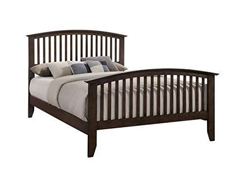 Julitta Panel Bed, Queen, Chestnut Brown Wood, Shaker (Headboard, Footboard, Rails, Slats) ()