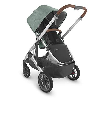 418 EkX%2BE1L - UPPAbaby Cruz V2 Stroller - Emmett (Green Melange/Silver/Saddle Leather)
