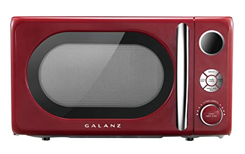 Galanz GLCMKA07RD-07 Retro 0.7 cu. Ft. 700-Watt Countertop Microwave, Hot Rod Red