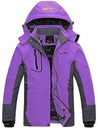 Wantdo Women's Waterproof Mountain Jacket Fleece...