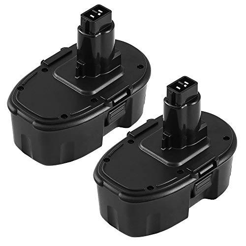 ([ Upgraded to 3600mAh] DC9096 18 Volt 3.6Ah Ni-Mh Replace for Dewalt 18V Battery XRP DC9098 DC9099 DW9095 DW9096 DW9098 DW9099 DE9039 DE9095 DE9096 DE9503 DE9098 DC9181 Cordless Power Tools - 2 Packs)