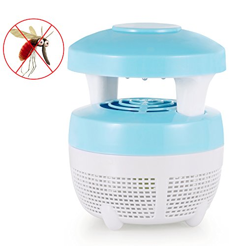 Indoor Mosquito Killer Lamp, Stripsun USB Electronic Bug Zapper Mosquito Inhaler Night Lamp, Eco-friendly Chemical-free Non-toxic Mosquito Trap Light, Ideal for Baby Pregnant Bedroom (Mushroom Blue)