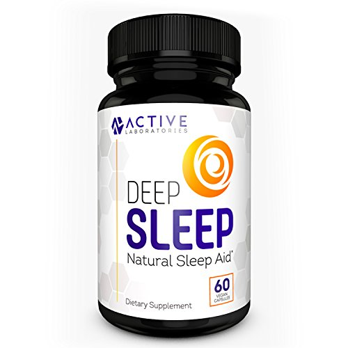 DEEP SLEEP All-Natural Sleep Aid - Melatonin & Valerian Root - Time Released Non-Habit Sleep Supplement - Avoid Insomnia - 60 Veggie Caps