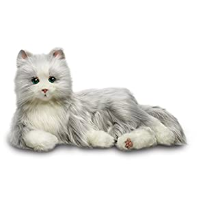 Joy For All Silver Cat With White Mitts - 418 GyueQeL - Ageless Innovation | Joy For All Companion Pets | Silver Cat with White Mitts | Lifelike & Realistic | Comfort, Joy & Companionship