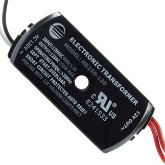 150W ELECTRONIC LOW VOLTAGE HALOGEN TRANSFORMER HD150-120
