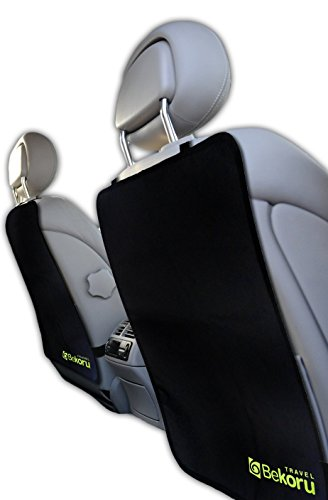 Kick Mats By Bekoru Travel-Premium Large Car Seat Back Protectors (2 Pack) –Fits Most Vehicles -Simple Installation –Top Quality-Protect Your Investment Now! Britax Top