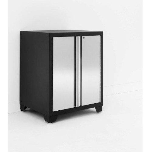 NewAge Stainless Steel Pro Series Base Garage Cabinet with 2 Doors