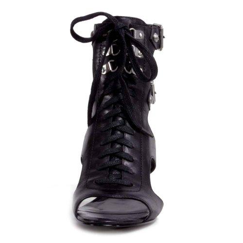 Guess - Zapatos de vestir de cuero para mujer negro negro, color negro, talla 35
