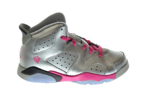 Jordan 6 Retro  Little Kids Basketball Shoes Metallic Silver