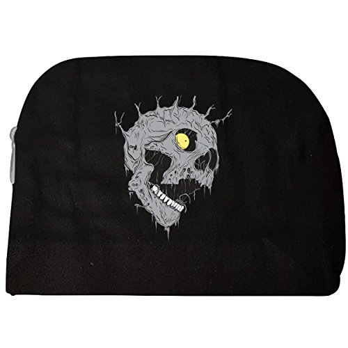 Scary Melting Zombie Skull Yellow Eye And Spikes Halloween - Cosmetic Case