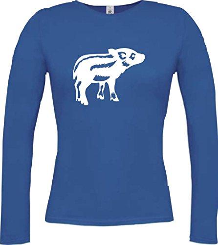 Shirtstown - Camiseta de manga larga - Manga Larga - para mujer azul cobalto