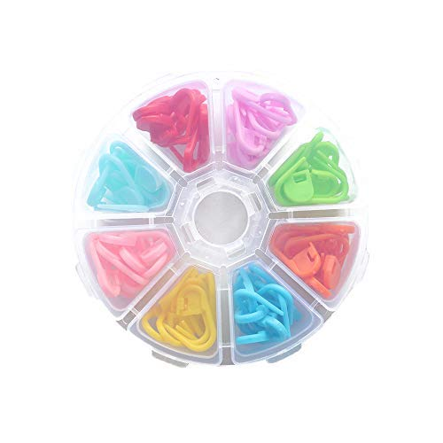 YEJI 104pcs 8 Colors Crochet Locking Stitch Markers Needle Clip for Craft DIY Handmade Knitting Accessories