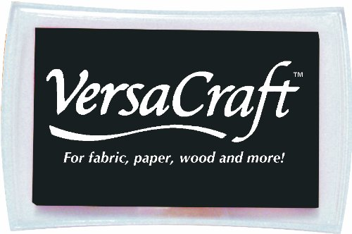 Tsukineko Full-Size VersaCraft Fabric and Home Decor Crafting Pigment Inkpad, Real (Fabric Stamp Pads)