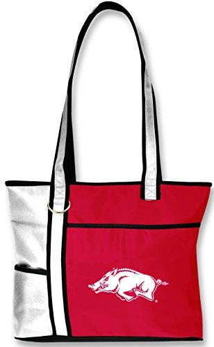 NCAA Arkansas Razorbacks Tote Bag with Embroidered Logo ()