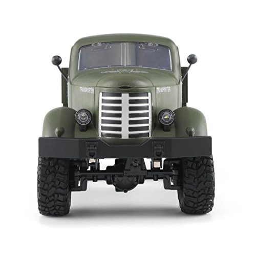 Dreamyth Excellent JJRC Q60 RC Military Truck Car 1:16 2.4G Remote Control 6WD Tracked Off-Road RTR Toy (green) ()