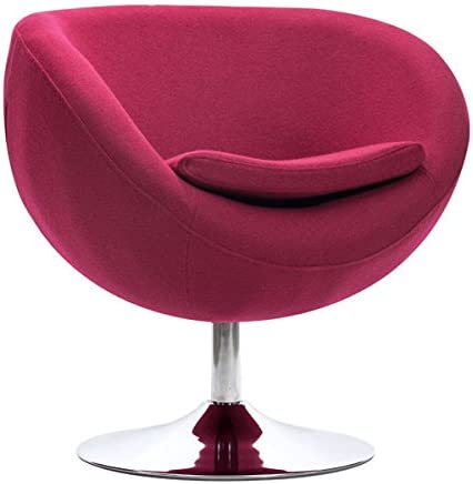 Zuo Lund Occasional Chair, 28.3Wx24.8Dx29H, Carnelian Red