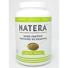 Best NATERA Hemp Protein Powder (2 lbs) Natural flavor | Quality Plant Based Protein, NON-GMO, Vegan Supplement