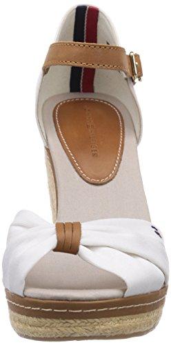 Para Tommy Mujer Blanco Emery 54d 100 white De Hilfiger Sandalias Lona Vestir SBx0S4wq