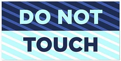 24x12 CGSignLab Stripes Blue Window Cling Do Not Touch 5-Pack